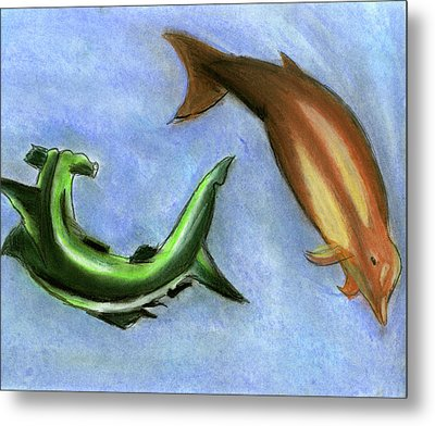 The Sea Of Life Metal Print by Mary and Art with a Heart In Healthcare