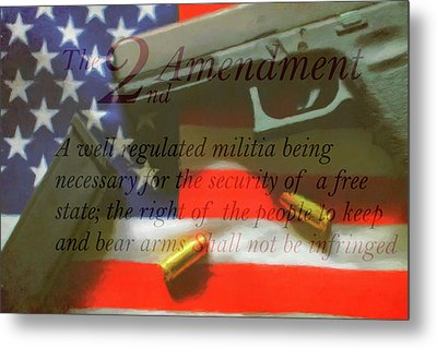 The Second Amendment Metal Print
