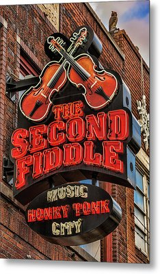 The Second Fiddle Nashville Metal Print