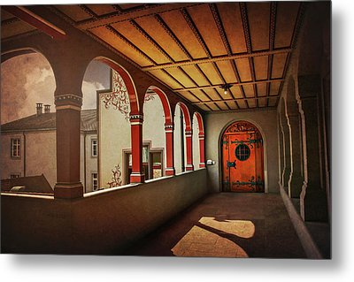 Metal Print featuring the photograph The Secret Door In Basel Switzerland  by Carol Japp