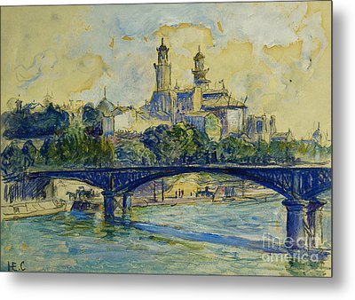 The Seine In Front Of The Trocadero Metal Print