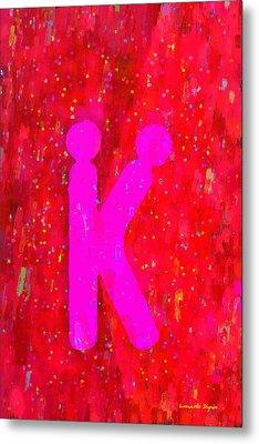 The Sexy K  - Pink -  - Da Metal Print