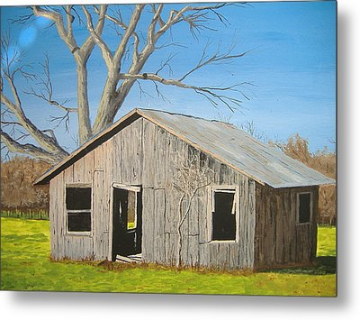 Metal Print featuring the painting The Shack by Norm Starks