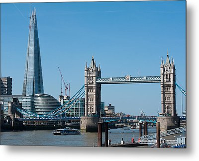 The Shard With Tower Bridge Metal Print