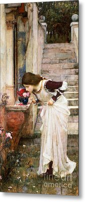 The Shrine Metal Print by John William Waterhouse