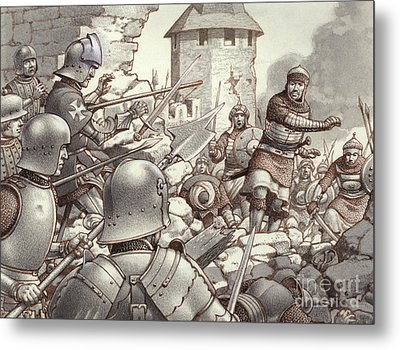 The Siege Of Rhodes Of 1522  Metal Print by Pat Nicolle