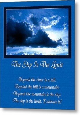 The Sky Is The Limit Metal Print by Andee Design