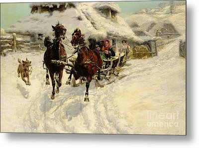 The Sleigh Ride Metal Print by JFJ Vesin