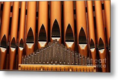 The Small Wall Organ Pipes...   # Metal Print