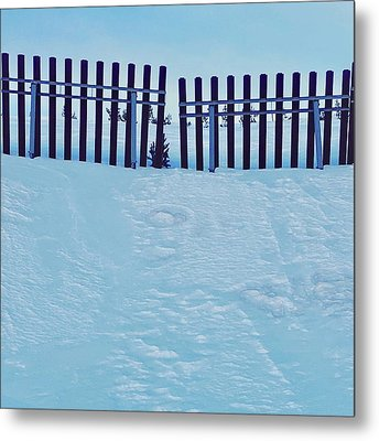 The Snow Fence Metal Print by Contemporary Art