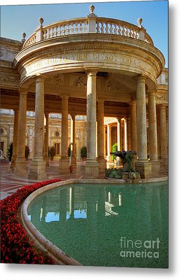 Metal Print featuring the photograph The Spa At Montecatini Terme by Nigel Fletcher-Jones