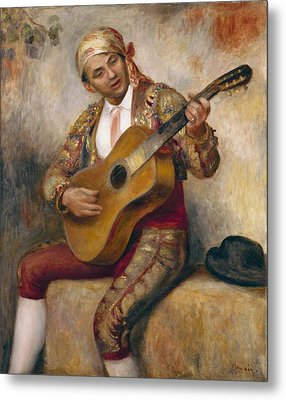 The Spanish Guitarist Metal Print by Pierre Auguste Renoir