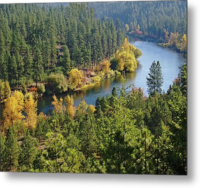 Metal Print featuring the photograph The Spokane River  by Ben Upham III
