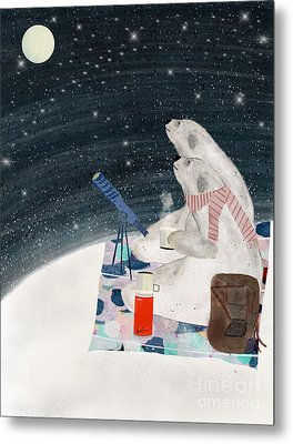 Metal Print featuring the painting The Stargazers by Bri B