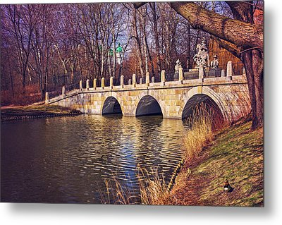 Metal Print featuring the photograph The Stone Bridge In Lazienki Park Warsaw  by Carol Japp