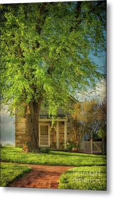 Metal Print featuring the photograph The Stone Cottage On A Spring Evening by Lois Bryan