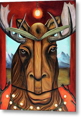 The Story Of Moose Metal Print by Leah Saulnier The Painting Maniac