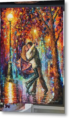 The Story Of The Umbrella Metal Print by Leonid Afremov