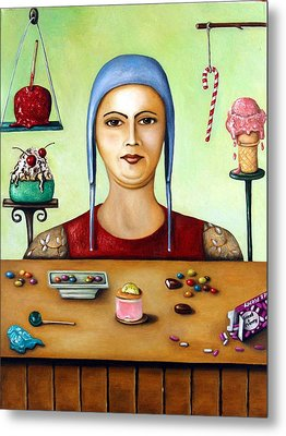 The Sugar Addict Metal Print by Leah Saulnier The Painting Maniac