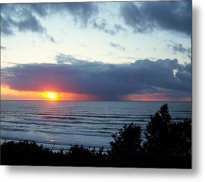 The Sunset And The Storm Metal Print by Angi Parks