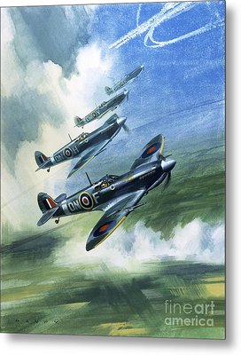 The Supermarine Spitfire Mark Ix Metal Print by Wilfred Hardy