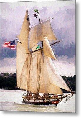 The Tall Ship The Lynx, Fine Art Print Metal Print by Greg Sigrist