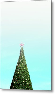 The Tallest Christmas Tee- Photograph By Linda Woods Metal Print by Linda Woods