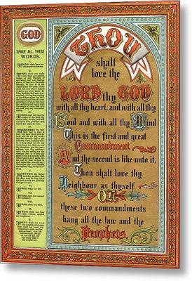 The Ten Commandments Metal Print