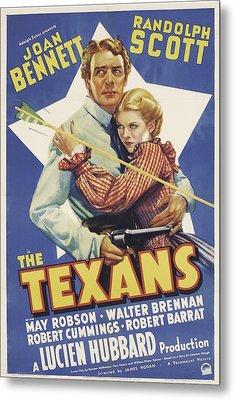 The Texans, Randolph Scott, Joan Metal Print