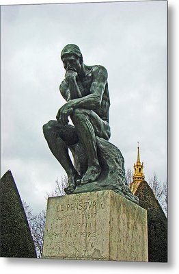 The Thinker By Rodin Metal Print by Al Bourassa