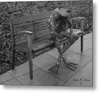 The Thinking Frog Metal Print