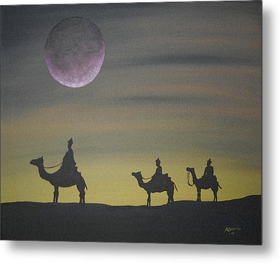 Metal Print featuring the painting The Three Kings by Edwin Alverio