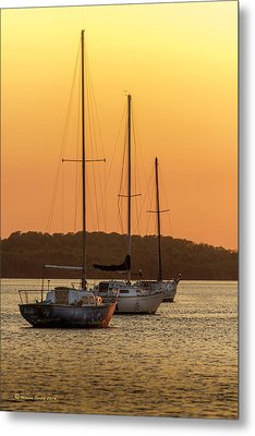 The Three Mast Metal Print by Marvin Spates