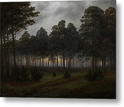 The Times Of Day - The Evening Metal Print by Caspar David Friedrich