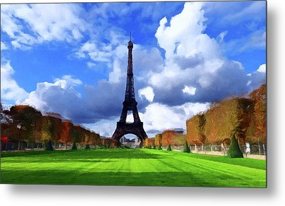 Metal Print featuring the painting The Tower Paris by David Dehner