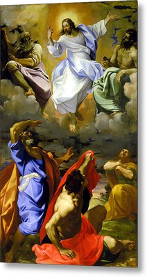 The Transfiguration Of Our Lord Metal Print by Lodovico Carracci