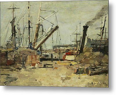 The Trawlers Metal Print by Eugene Boudin