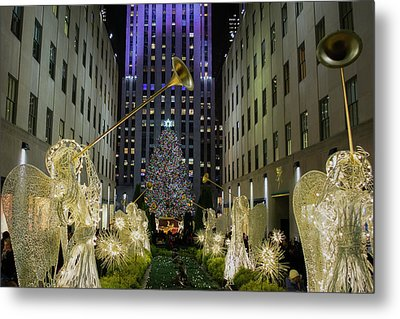 The Tree At Rockefeller Plaza Metal Print