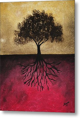 Metal Print featuring the painting The Tree Of Life by Edwin Alverio