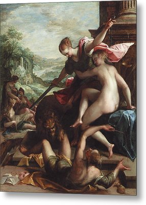 The Triumph Of Truth Metal Print by Johann or Hans von Aachen