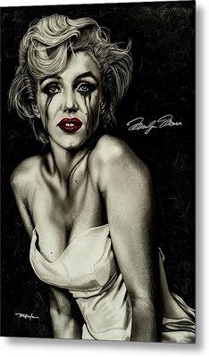The True Marilyn Metal Print by Dan Menta