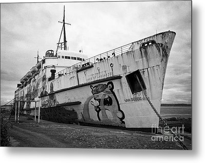 The Tss Duke Of Lancaster Funship Project At Mostyn North Wales Uk Metal Print