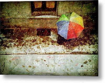 The Umbrella Metal Print by Silvia Ganora