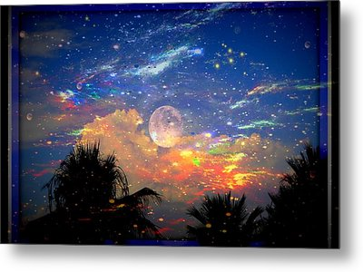 The Universal Moon Metal Print
