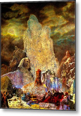 Metal Print featuring the painting The Valley Of Sphinks by Henryk Gorecki
