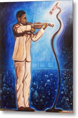 The Violinist Metal Print by Emery Franklin