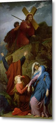 The Virgin Of Calvary Metal Print by Jules Eugene Lenepveu