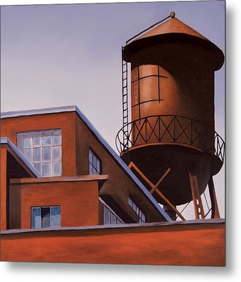 The Water Tower Metal Print by Duane Gordon