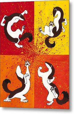The Weasel Dance Metal Print