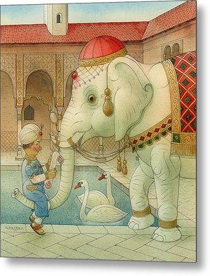The White Elephant 07 Metal Print by Kestutis Kasparavicius